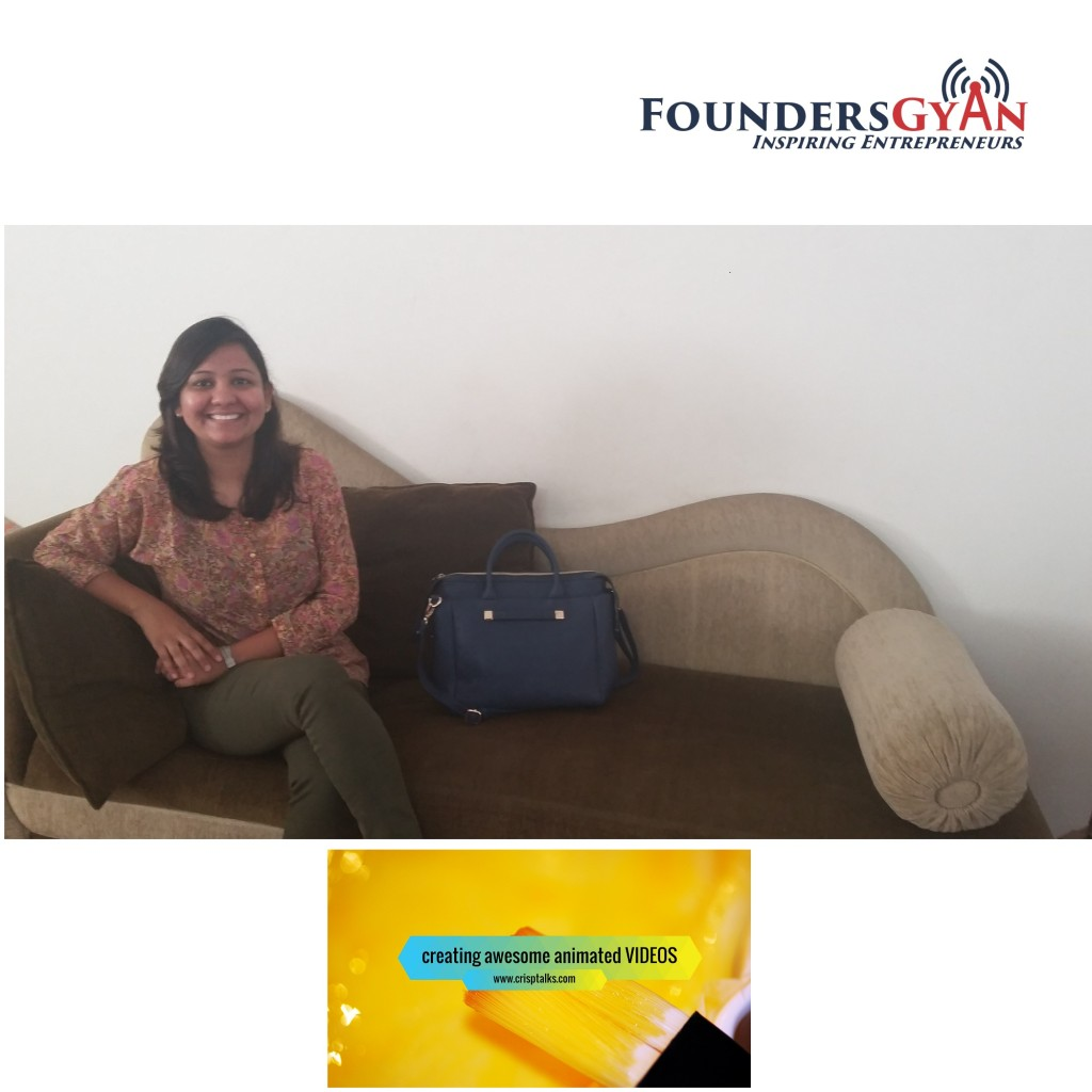 Rachna Ghiya, founder of Crisptalks, provider of affordable animated videos to startups