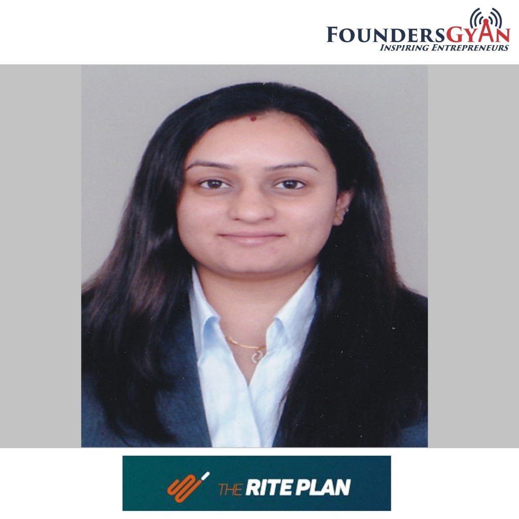 Charu Hastir, founder of TheRitePlan, a DIY financial portal