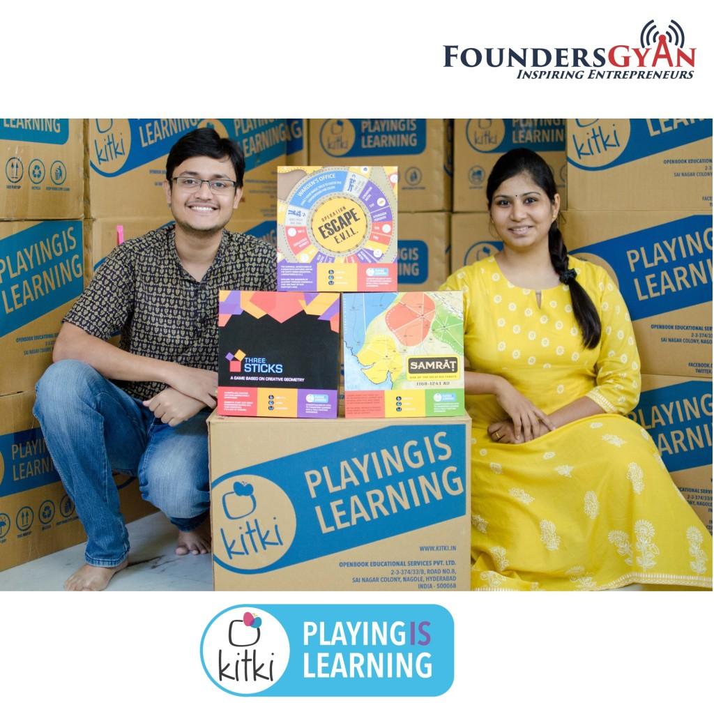 Pramod and Rohini, founders of Kitki, makes learning fun!