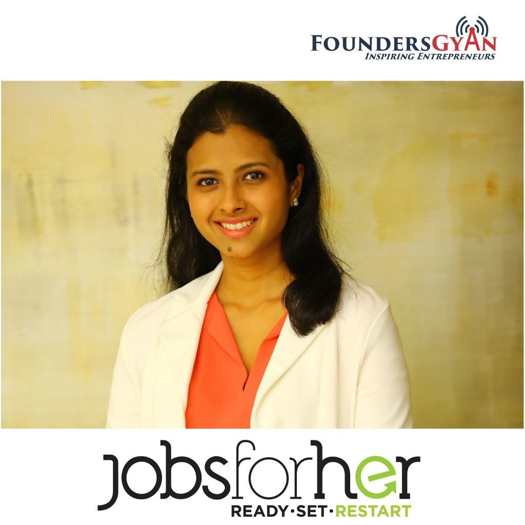 Neha Bagaria, founder of JobsForHer, a portal that helps women with career breaks re-enter the job market!